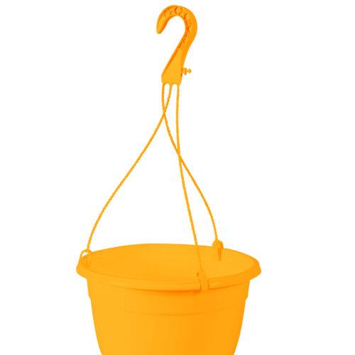 Canasta Plástica Colgante Amarillo Quemado